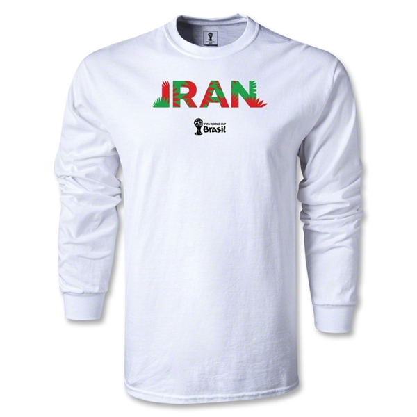 Iran 2014 FIFA World Cup Brazil(TM) Men's LS Palm T-Shirt (White)