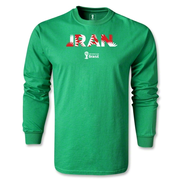 Iran 2014 FIFA World Cup Brazil(TM) Men's LS Palm T-Shirt (Green)