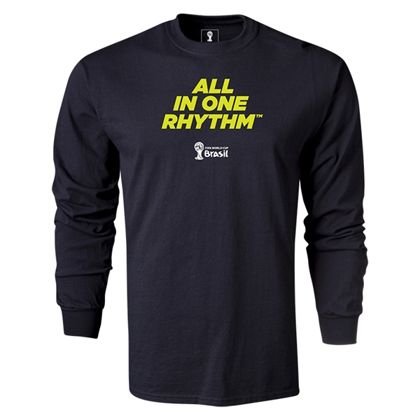 2014 FIFA World Cup Brazil(TM) LS All in One Rhythm T-Shirt (Black)