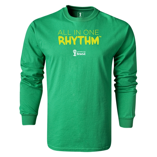 2014 FIFA World Cup Brazil(TM) LS All in One Rhythm T-Shirt (Green)