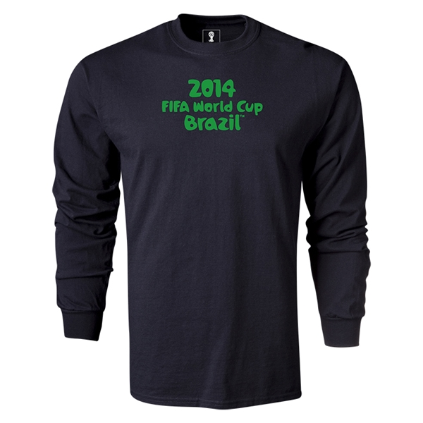 2014 FIFA World Cup Brazil(TM) LS Logotype T-Shirt (Black)