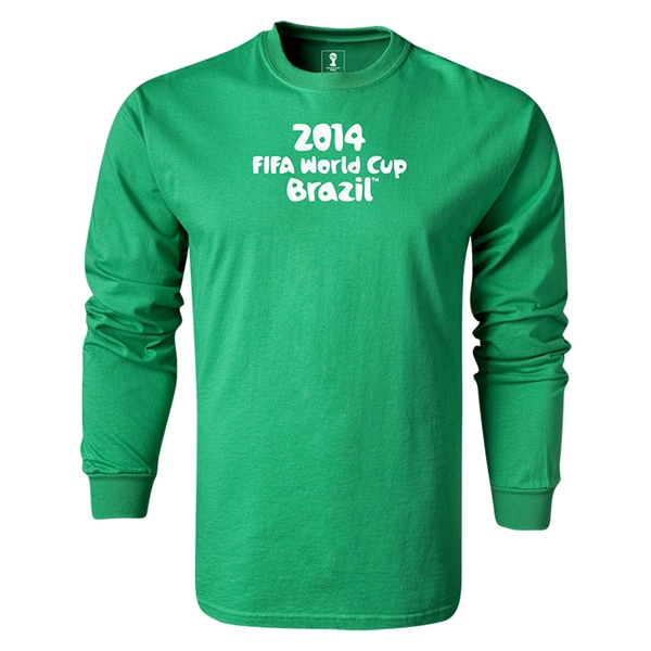 2014 FIFA World Cup Brazil(TM) LS Logotype T-Shirt (Green)