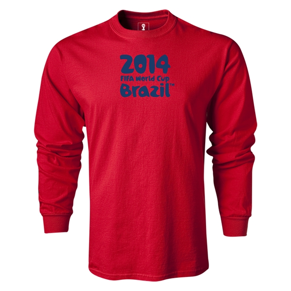2014 FIFA World Cup Brazil(TM) LS Logotype T-Shirt (Navy)