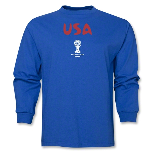 USA 2014 FIFA World Cup Brazil(TM) Men's Longsleeve Core T-Shirt (Royal)