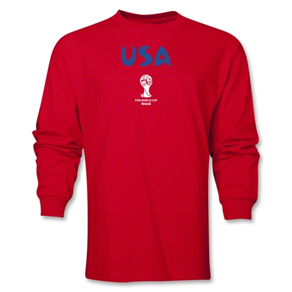 USA 2014 FIFA World Cup Brazil(TM) Men's Longsleeve Core T-Shirt (Red)