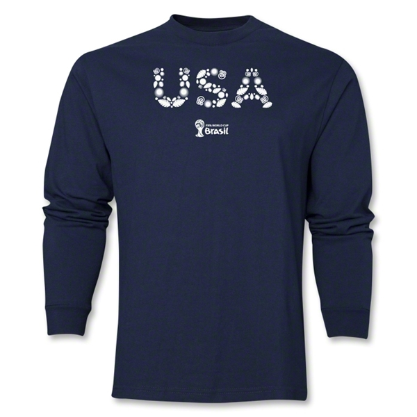 USA 2014 FIFA World Cup Brazil(TM) Men's LS Elements T-Shirt (Navy)