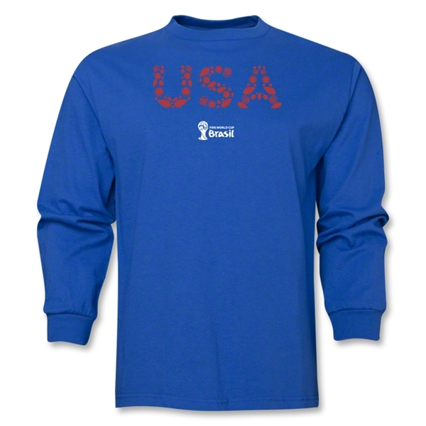 USA 2014 FIFA World Cup Brazil(TM) Men's LS Elements T-Shirt (Royal)