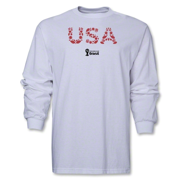 USA 2014 FIFA World Cup Brazil(TM) Men's LS Elements T-Shirt (White)