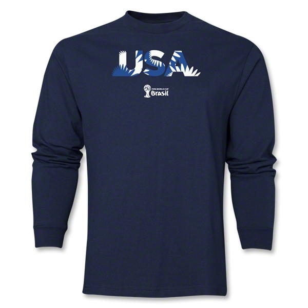 USA 2014 FIFA World Cup Brazil(TM) Men's LS Palm T-Shirt (Navy)