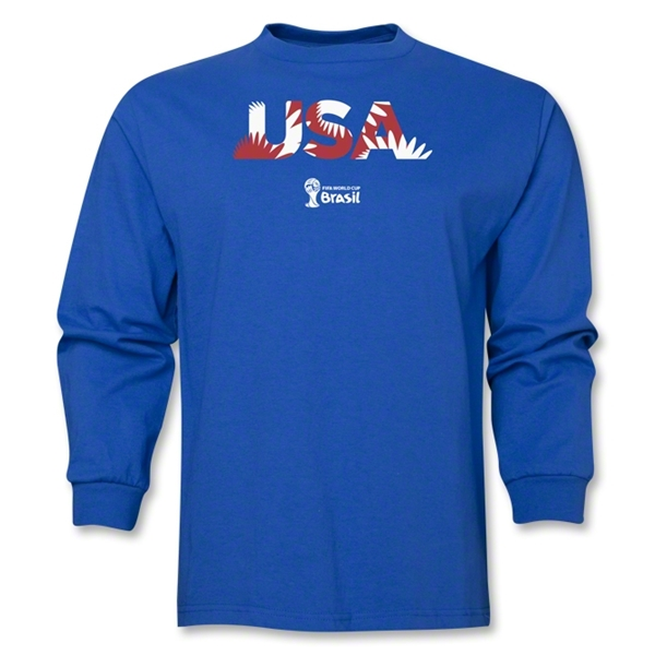 USA 2014 FIFA World Cup Brazil(TM) Men's LS Palm T-Shirt (Royal)