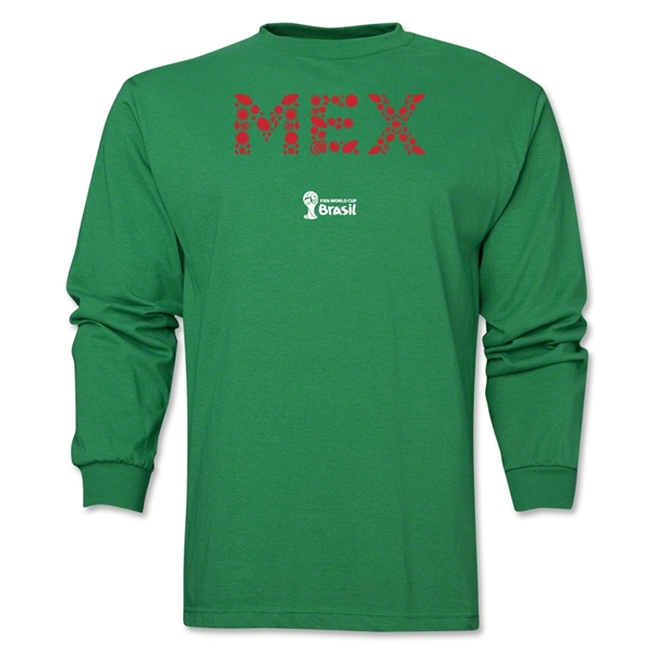 Mexico 2014 FIFA World Cup Brazil(TM) Men's LS Elements T-Shirt (Green)