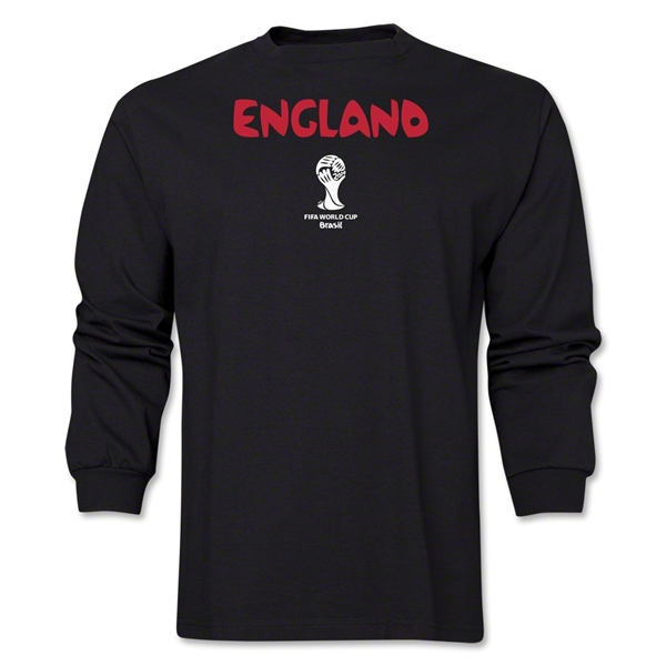England 2014 FIFA World Cup Brazil(TM) Men's LS Core T-Shirt (Black)