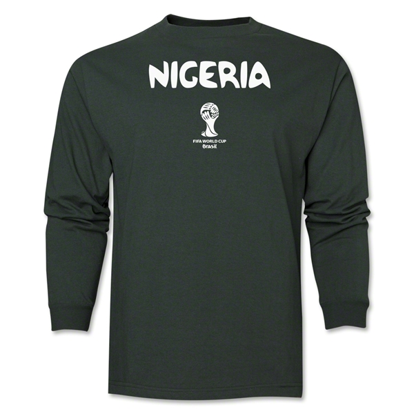 Nigeria 2014 FIFA World Cup Brazil(TM) Men's LS Core T-Shirt (Dark Green)