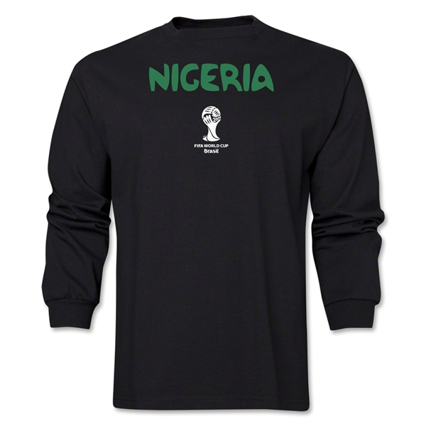 Nigeria 2014 FIFA World Cup Brazil(TM) Men's LS Core T-Shirt (Black)