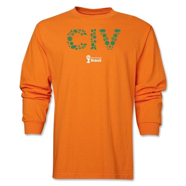 Cote d'Ivoire 2014 FIFA World Cup Brazil(TM) Men's LS Elements T-Shirt (Orange)