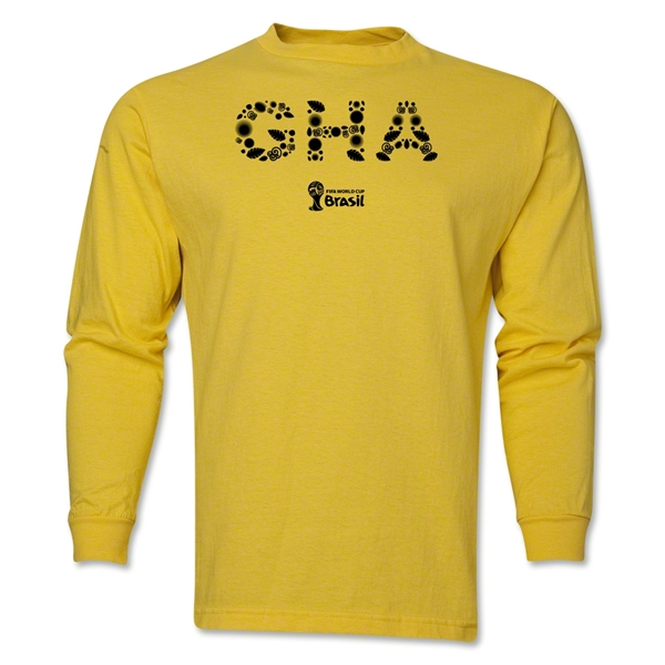 Ghana 2014 FIFA World Cup Brazil(TM) Men's LS Element T-Shirt (Yellow)