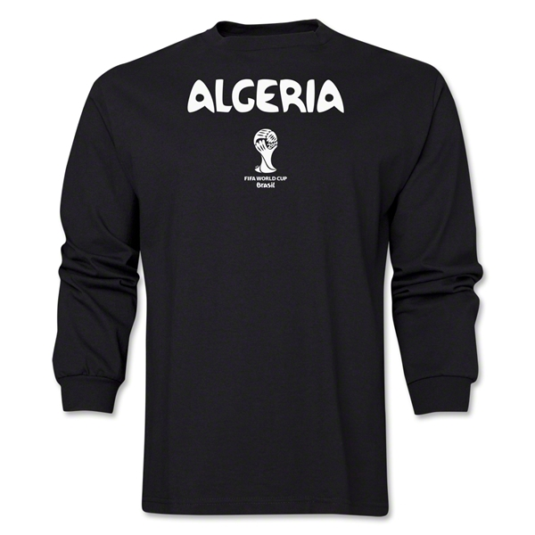 Algeria 2014 FIFA World Cup Brazil(TM) Men's LS Core T-Shirt (Black)