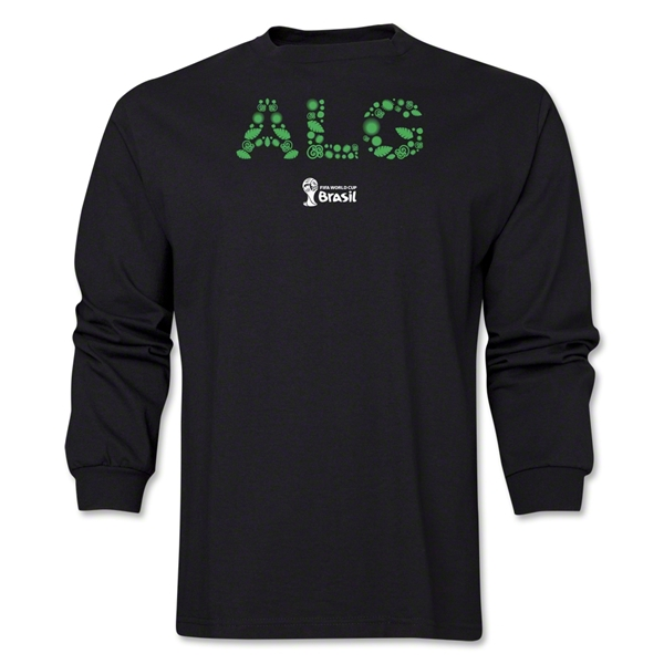 Algeria 2014 FIFA World Cup Brazil(TM) Men's LS Element T-Shirt (Black)