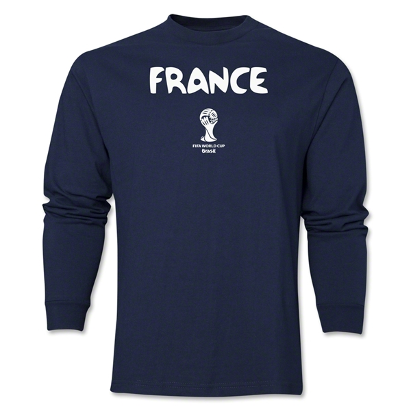 France 2014 FIFA World Cup Brazil(TM) Men's LS Core T-Shirt (Navy)