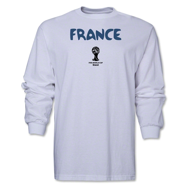 France 2014 FIFA World Cup Brazil(TM) Men's LS Core T-Shirt (White)