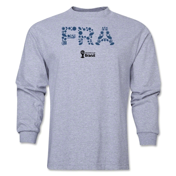 France 2014 FIFA World Cup Brazil(TM) Men's LS Elements T-Shirt (Gray)