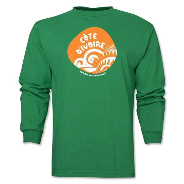 Cote d'Ivoire 2014 FIFA World Cup Brazil(TM) Men's LS Icon T-Shirt (Green)