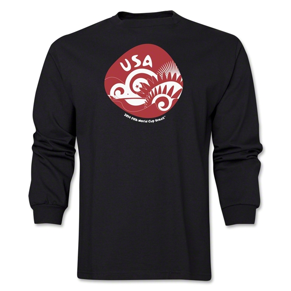 USA 2014 FIFA World Cup Brazil(TM) Men's LS Icon T-Shirt (Black)