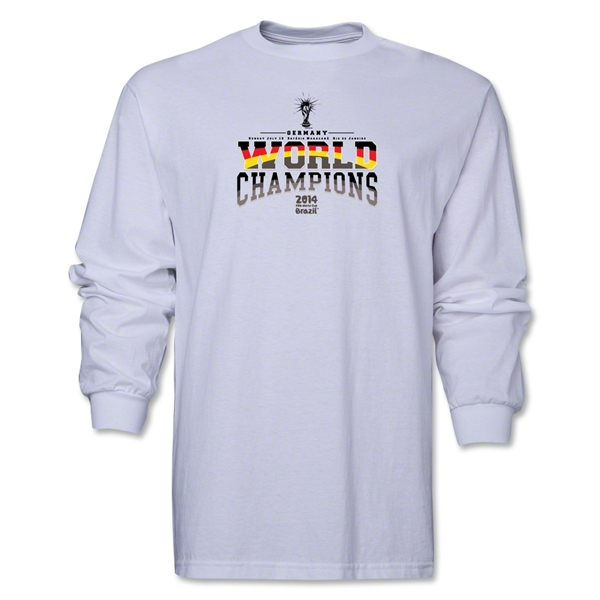 Germany 2014 FIFA World Cup Brazil(TM) Men's LS World Champions T-Shirt (White)