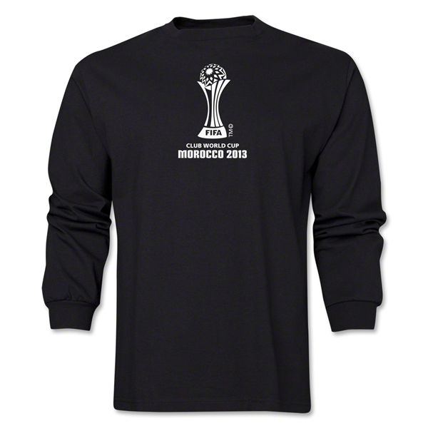 FIFA Club World Cup Morocco 2013 Official Emblem LS T-Shirt (Black)