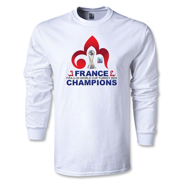 France FIFA U-20 World Cup 2013 Winners LS T-Shirt (White)