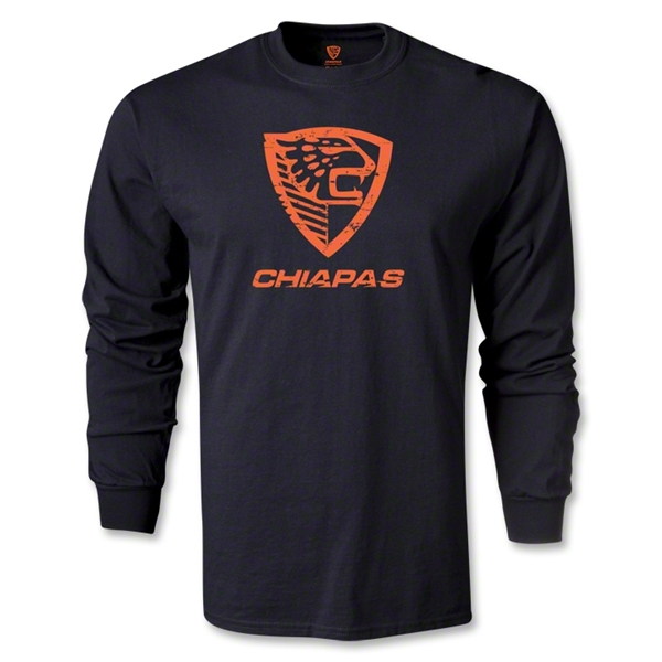 Jaguares de Chiapas Distressed LS T-Shirt (Black)