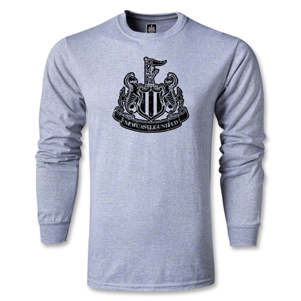 Newcastle United Distressed LS T-Shirt (Black)