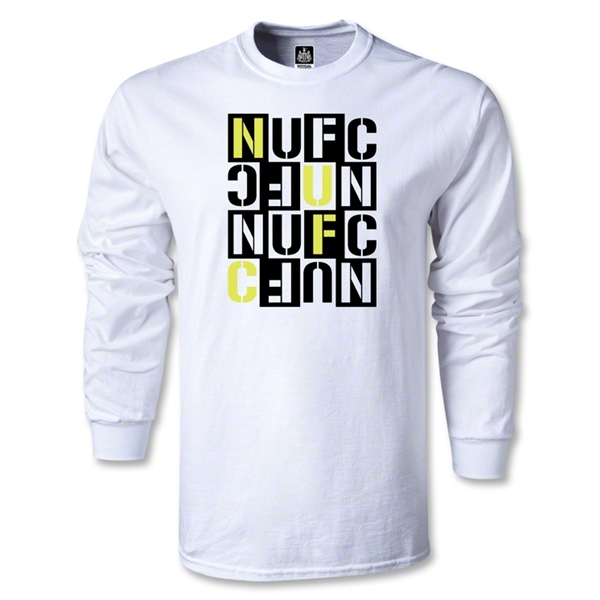 Newcastle United Letter Block LS T-Shirt (White)
