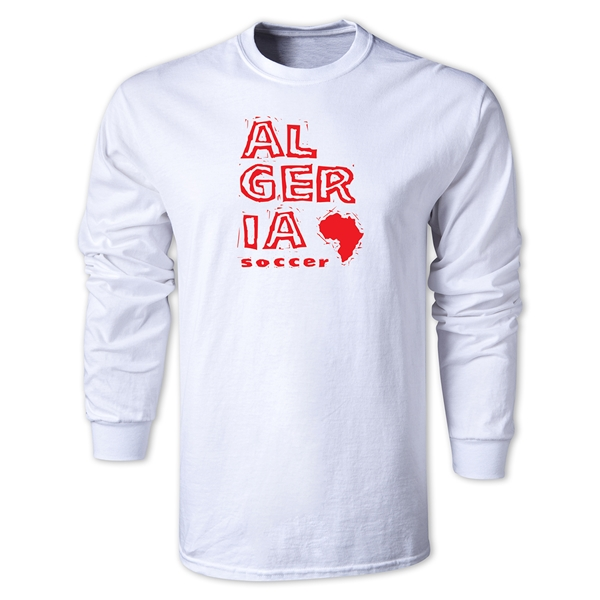Algeria LS Country T-Shirt (White)