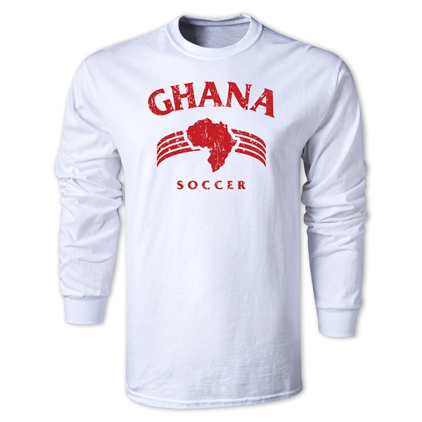 Ghana LS Country T-Shirt (White)