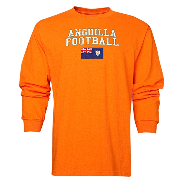Anguilla LS Football T-Shirt (Orange)