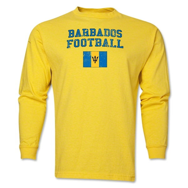 Barbados LS Football T-Shirt (Yellow)