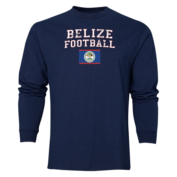 Belize LS Football T-Shirt (Navy)