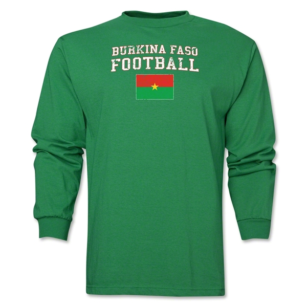 Burkina Faso LS Football T-Shirt (Green)