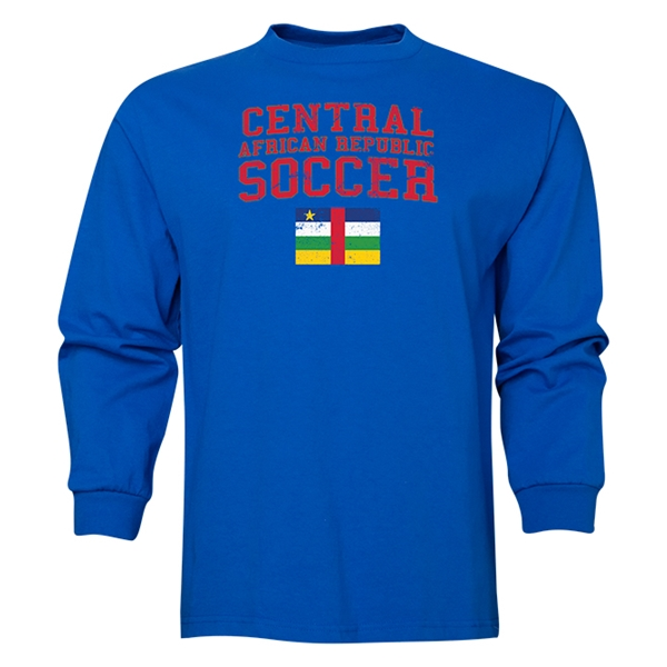 Central African Republic LS Soccer T-Shirt (Royal)