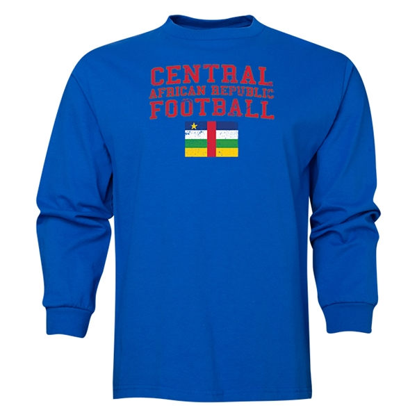 Central African Republic LS Football T-Shirt (Royal)