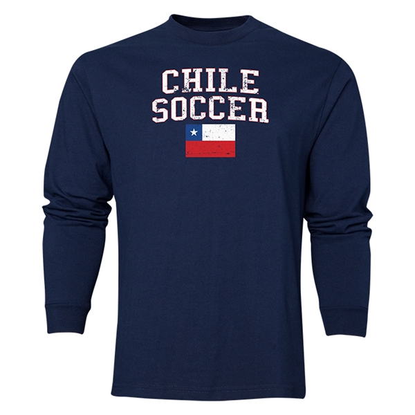 Chile LS Soccer T-Shirt (Navy)