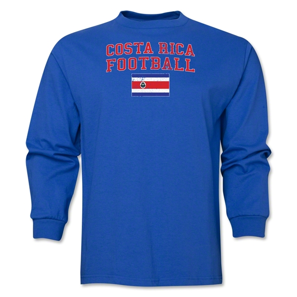 Costa Rica LS Football T-Shirt (Royal)