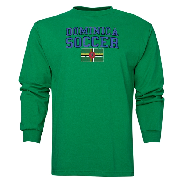 Dominica LS Soccer T-Shirt (Green)