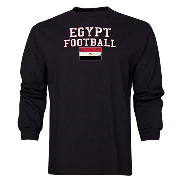 Egypt LS Football T-Shirt (Black)