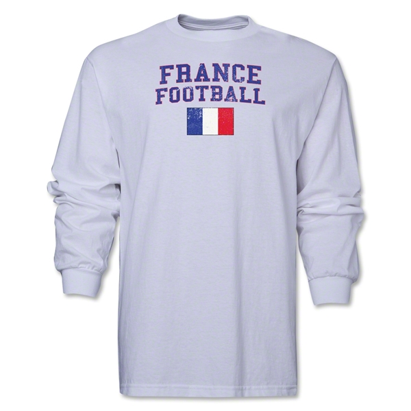 France LS Football T-Shirt (White)