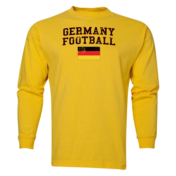 Germany LS Football T-Shirt (Yellow)