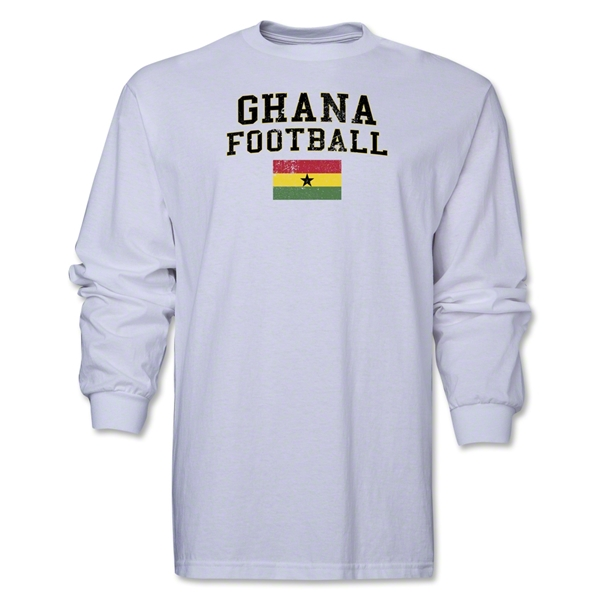 Ghana LS Football T-Shirt (White)