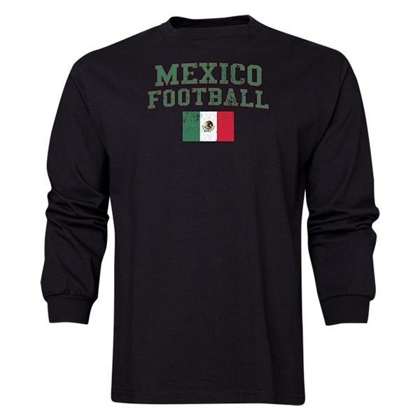 Mexico LS Football T-Shirt (Black)