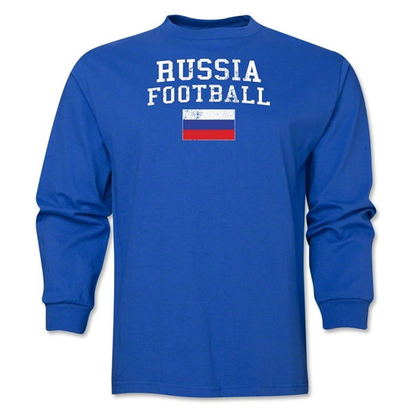 Russia LS Football T-Shirt (Royal)
